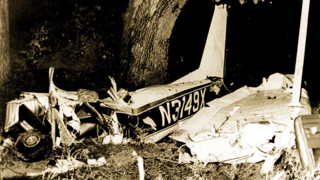 Imagen de la avioneta en la que viajaba Rocky Marciano, que murió víctima de accidente el 31 de agosto de 1969