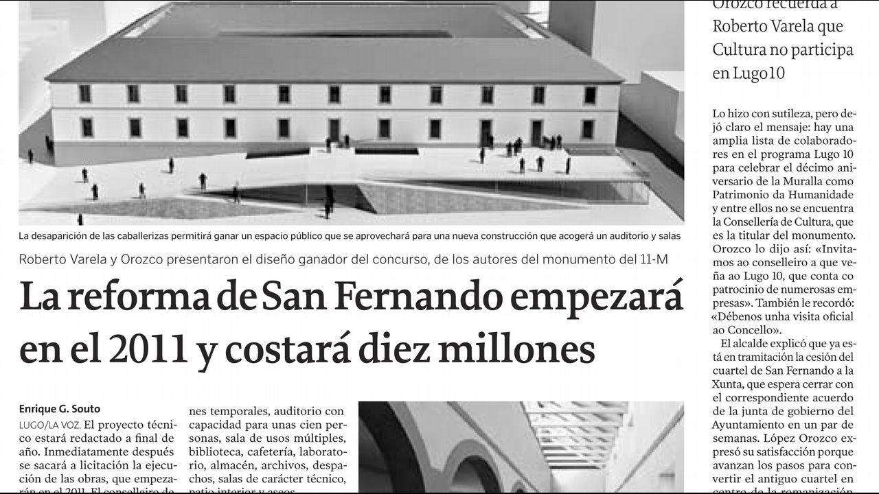 Página de La Voz de Galicia del 16 de junio del 2010
