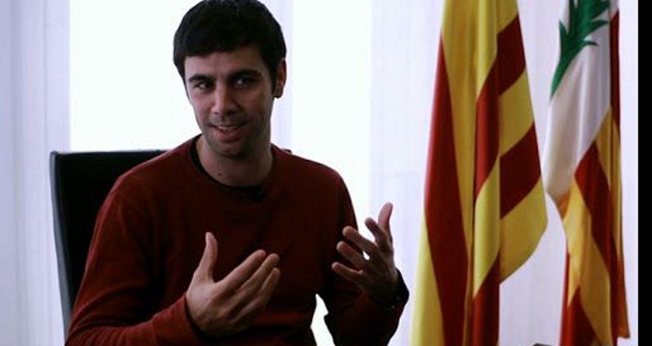 Comparecencia de Pedro Sánchez en el Congreso.El alcalde de Argentona (Barcelona), Eudald Calvo, de la CUP