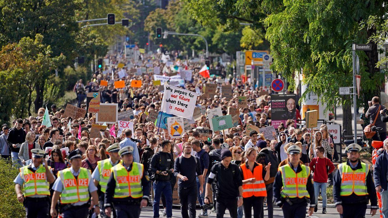 Manifestación en Stuttgart