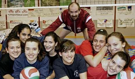 Rodríguez Peña ya estuvo en Monforte el jueves en el entrenamiento del equipo infantil.