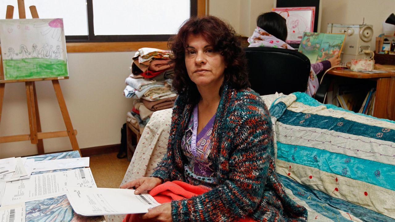 Merchi Pérez vive en Moaña en situación de pobreza energética