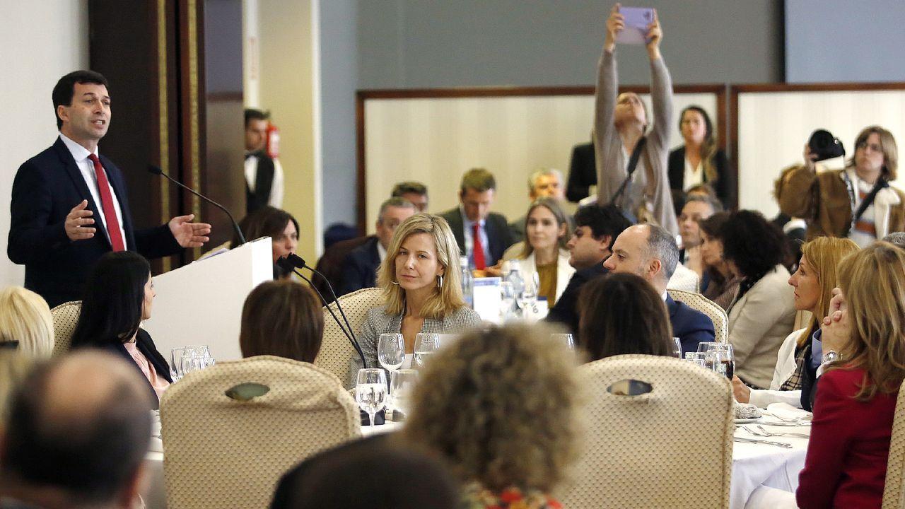 Caballero, durante su presentación ante empresarios en Vigo