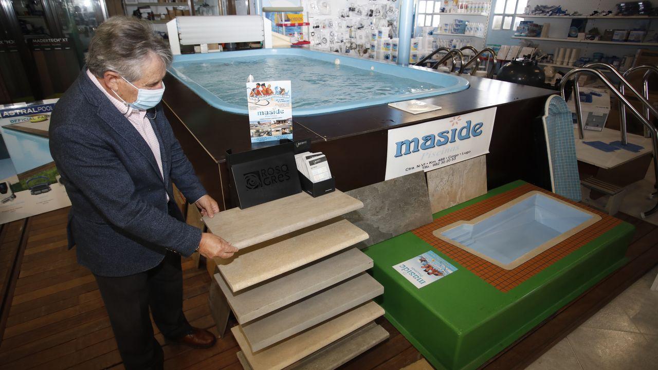 Maside explica que el clima también influye en la demanda de piscinas