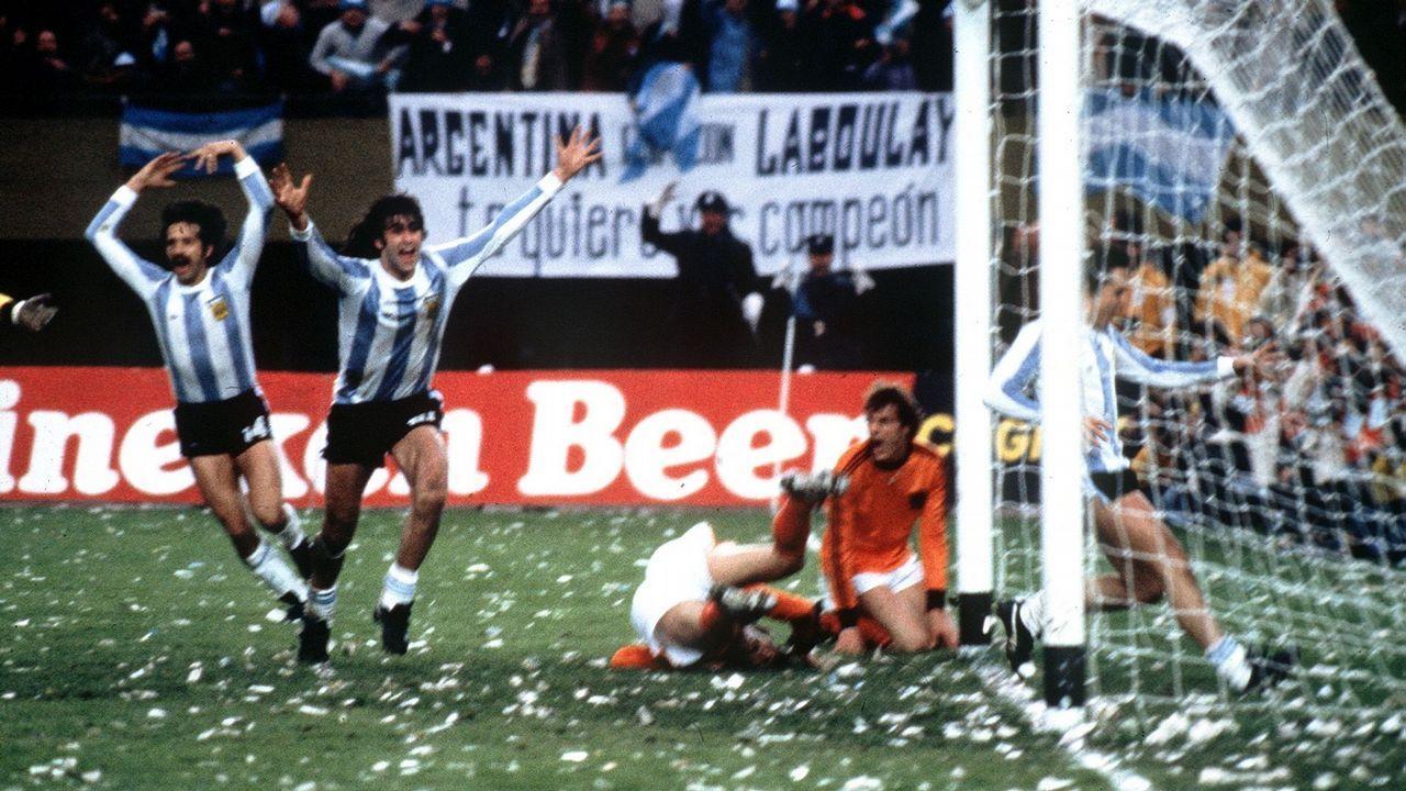 Gol de Kempes en el Argentina-Holanda del Mundial 78 que dio la victoria a la selección albiceleste