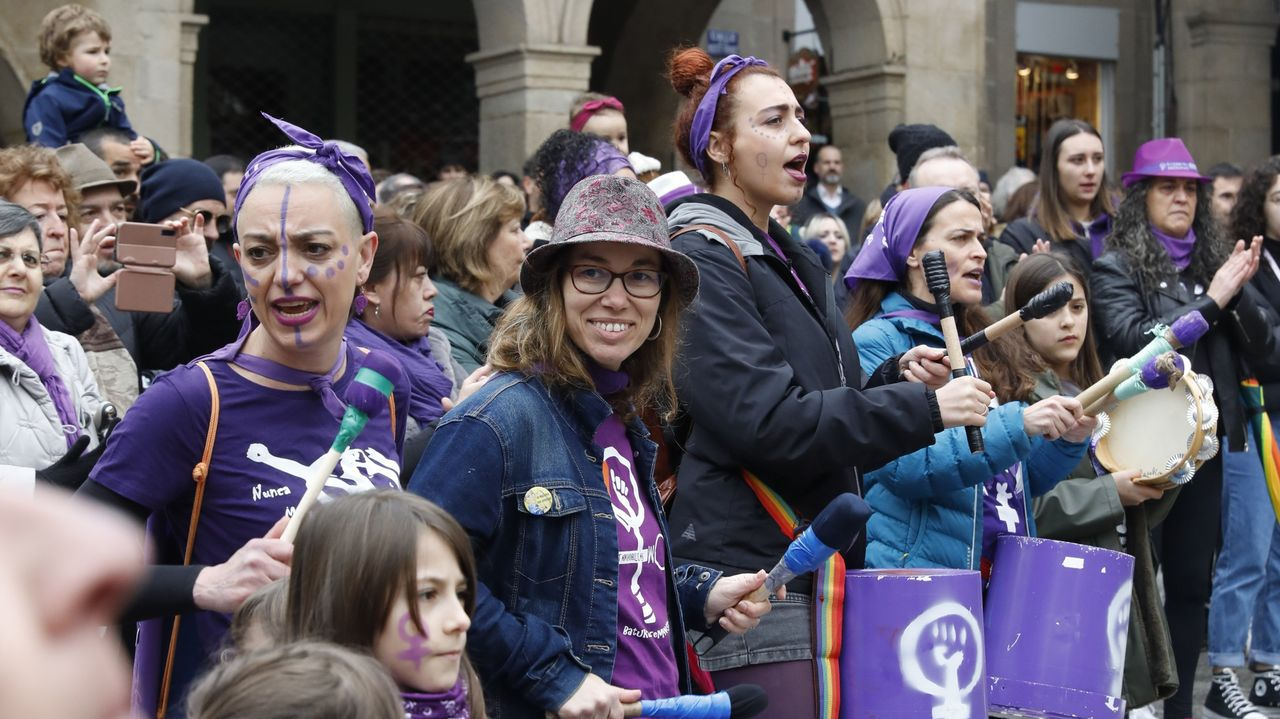 8M en Ourense.Manifestación en Ourense