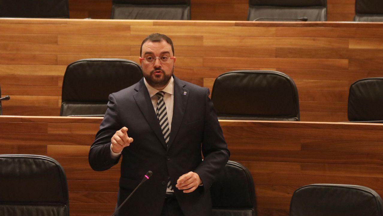 El presidente del Principado de Asturias, Adrián Barbón