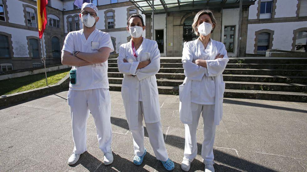 En el hospital Montecelo, en Pontevedra, hay 12 pacientes covid en planta y 5 graves en la uci