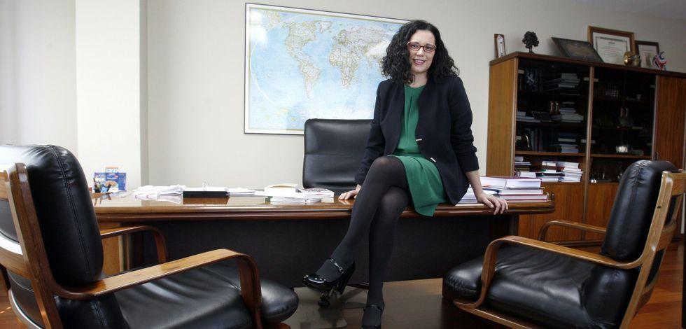 Margarita Hermo, en su despacho en Jealsa, donde desarrolla su labor desde el año 2003 mano a mano con la dirección.