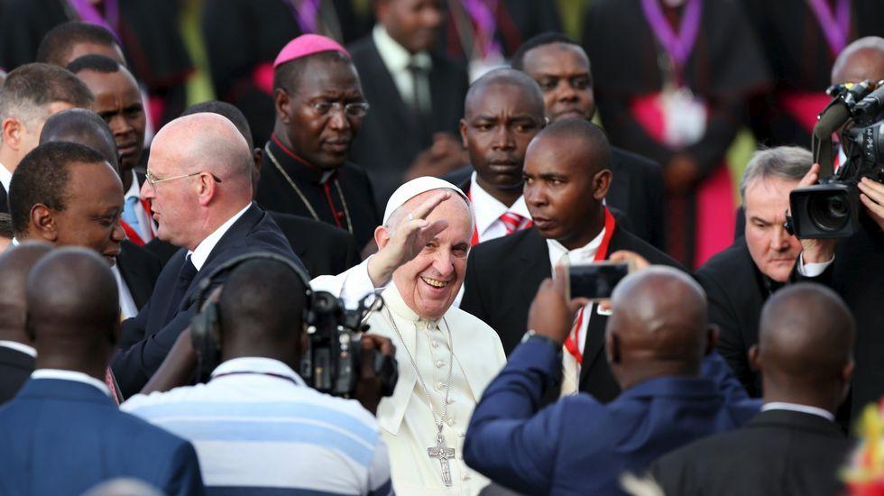 El papa inicia en Kenia su viaje a Centroáfrica