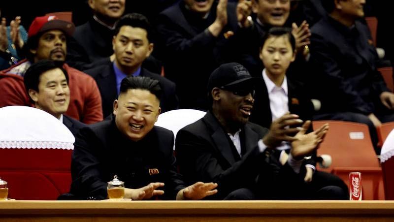 Rodman y Kim Jong-un disfrutan de los Globetrotters