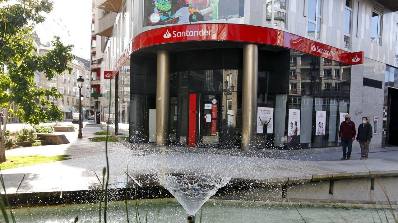 Los pisos «ganga».Una oficina del Banco Santander, en una imagen de archivo