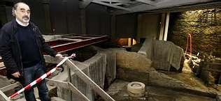 El arqueólogo Celso Rodríguez es el responsable de la excavación de la Domus do Mitreo.
