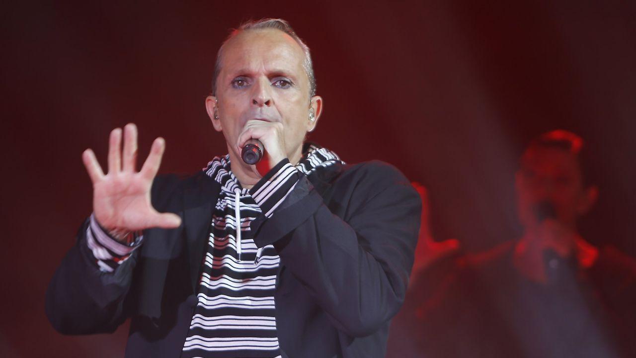 Bosé, durante un concierto en A Coruña en el año 2017