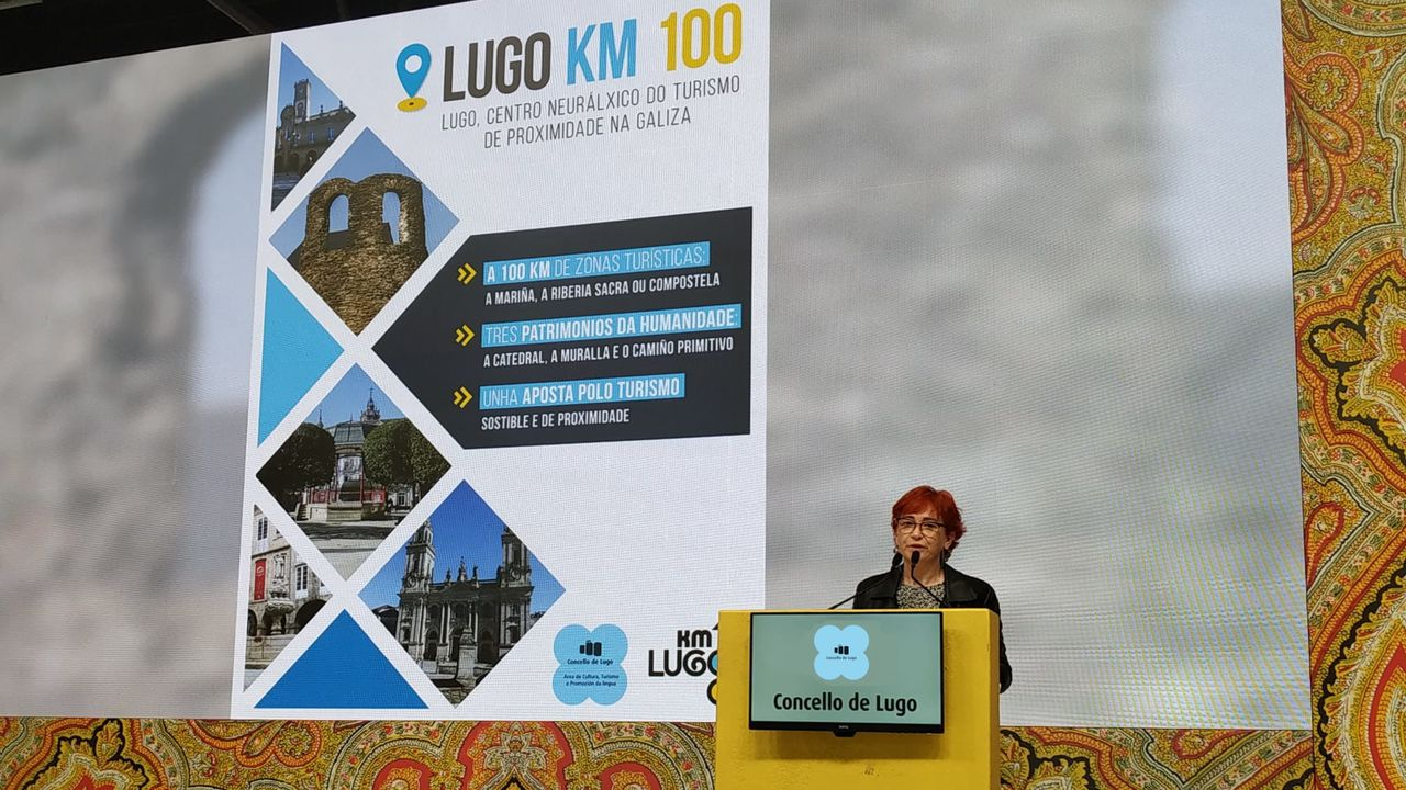 La concejala de Turismo, Maite Ferreiro, presenta la campaña de Lugo en Fitur