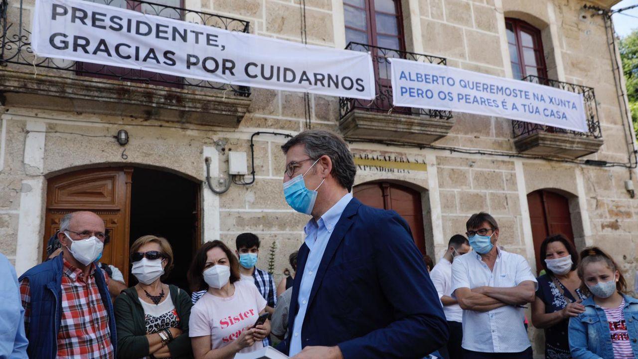 Feijoo en Os Peares, arranca la campaña electoral.La periodista viguesa Beatriz Pino