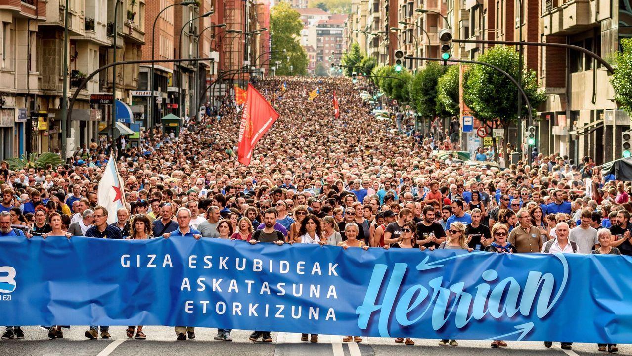 Manifestación en Bilbao el pasado sábado en apoyo a los 47 encausados