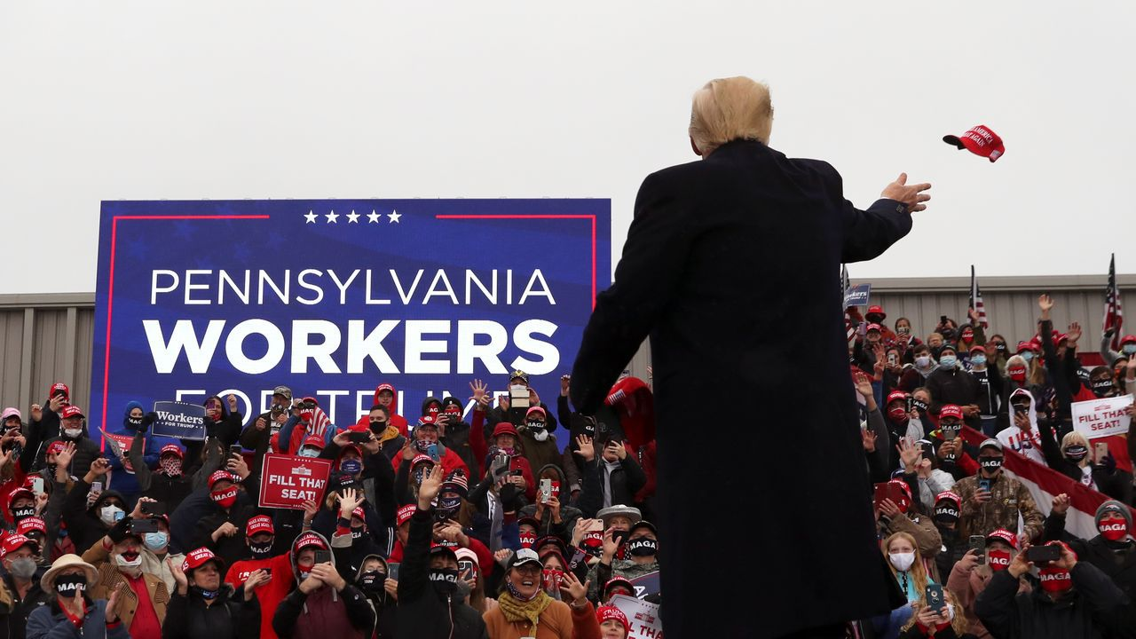 Trump, este lunes en Pensilvania