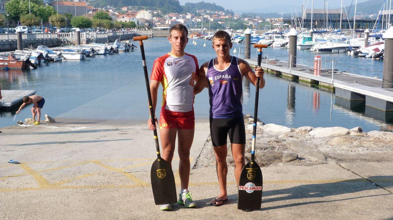 Sergio Vallejo y Adrián Sieiro. Bronce europeo en la categoría C-2 1.000 metros