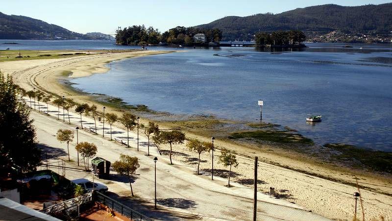 Playas con bandera azul del área de Vigo en el 2014.La playa de Razo se ha quedado sin bandera azul.