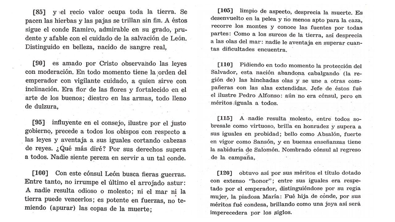 Traducción de la descripción de los asturies en la Chronica Adefonsi Imperatoris