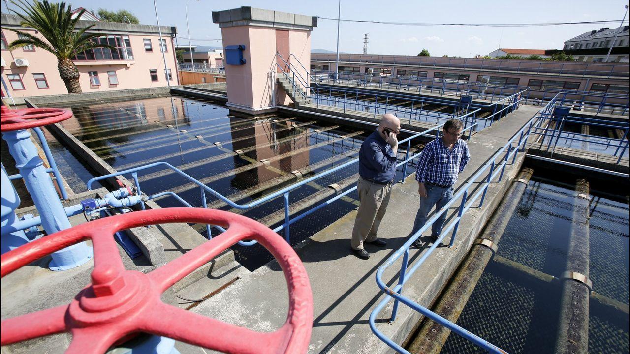 Gómez-Limón pide el voto para el BNG.Estación de tratamiento de agua potable en Ferrol