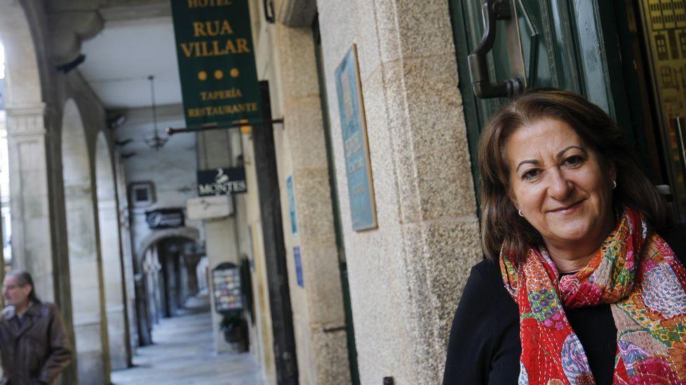Cuarto robo en la cafetería Iñas y Mera de Santa Cristina.Rubén Wang