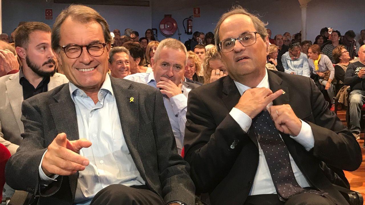 Imágenes de la intervenciónpolicial en la AP-7 y en el municipio de Salt.Lastra y Rufián explorarán hoy la posibilidad de un acuerdo entre el PSOE y ERC