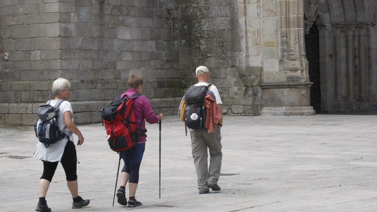 Turistas en la Catedral de Lugo este martes