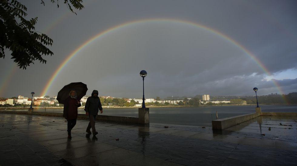 Vista Ria do Burgo. Lluvia arcoiris