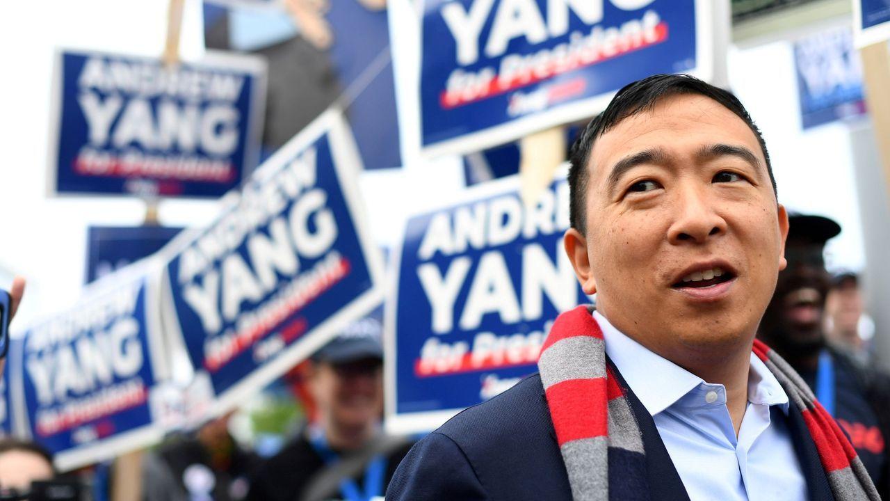 Andrew Yang retiró su candidatura de las primarias demócratas en febrero