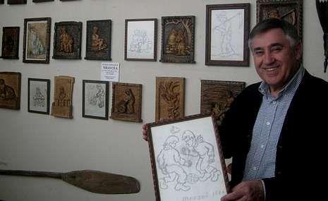 A galería melidense custodia boa parte do legado de Nilo Cea, como as tallas en madeira.