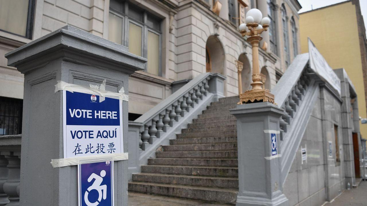 Un colegio electoral instalado en un centro judío de Brooklyn