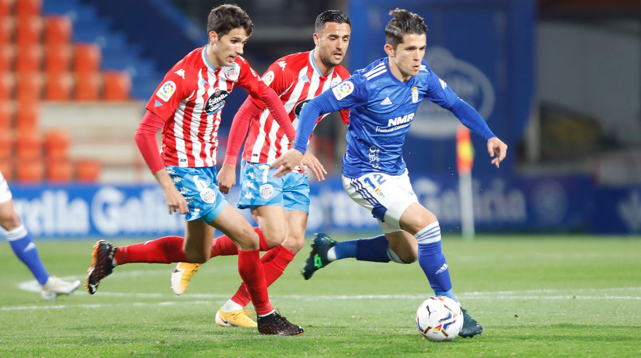 Juanjo Nieto, durante el Lugo-Real Oviedo