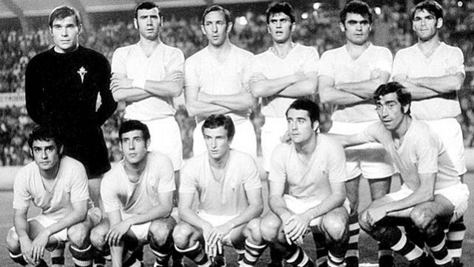 El estreno. Fue frente al Aberdeen donde debutó el Celta en Europa. Fue en el curso 70/71 y con cuatro canteranos disfrutando de minutos en el torneo continental.