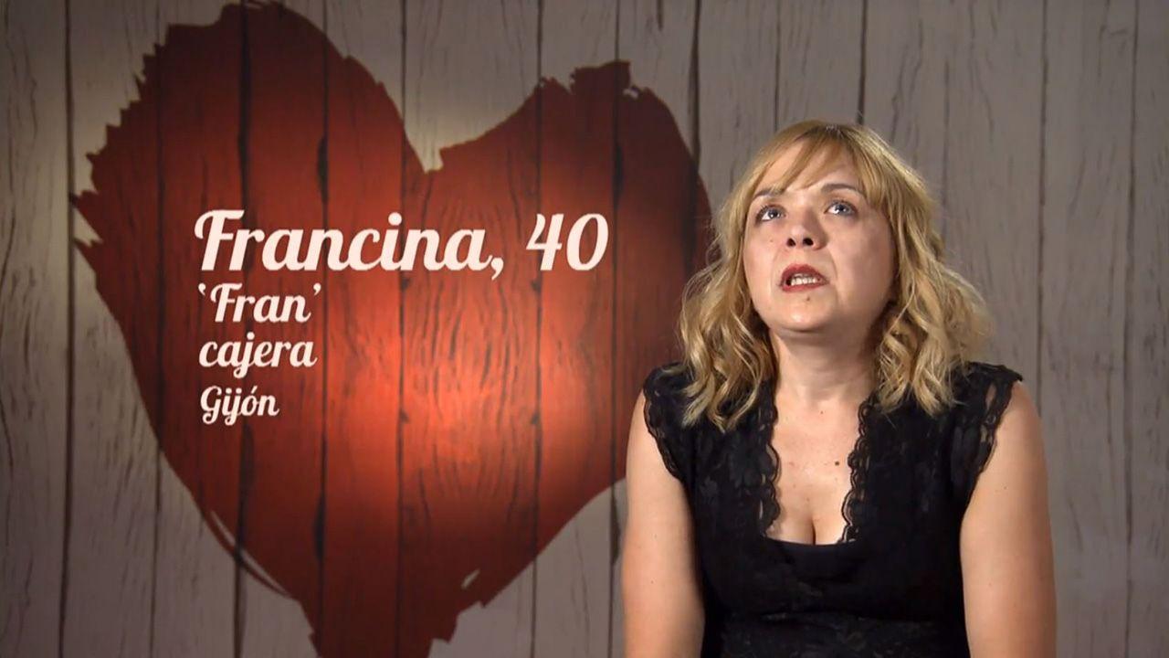 Francina, originaria de Melilla pero vecina de Gijón, en First Dates