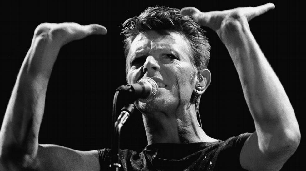 Concierto de Bowie en el Festival de Frankfurt, en 1983.