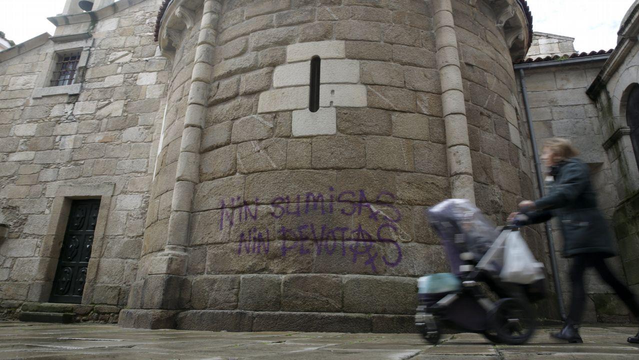 Ausencia de incidencias en el primer día tras el aviso de que el 092 comenzaría a multar en el entorno del Santa María del Mar.Fragata Méndez Núñez en Navantia
