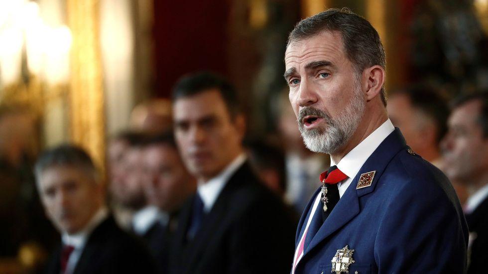 El rey reaparece en la Pascua Militar.Sede del Centro Nacional de Inteligencia (CNI)