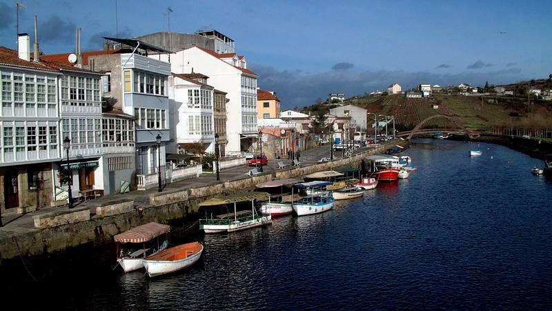 Imagen del río Mandeo a su paso por Betanzos