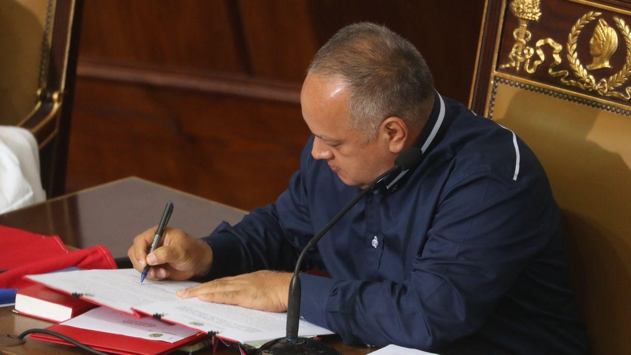 Diosdado Cabello, en una sesión de la ANC venezolana