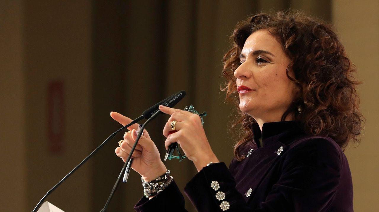 «Podo botar seis ou sete horas recollendo castañas».Cabecera de la manifestación en defensa de Alcoa en Avilés
