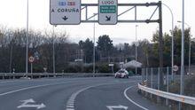 Desde esta zona de la N-VI hasta el puente blanco es el tramo que el Concello de Lugo pedira a Fomento