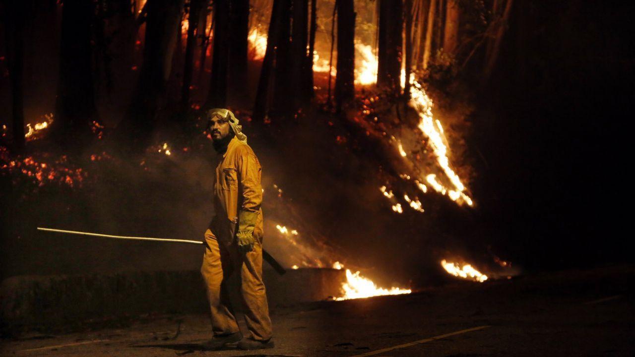 La lucha contra el fuego.Concejos en riesgo de incendios