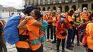 Llegada de los peregrinos de La Palma al Obradoiro