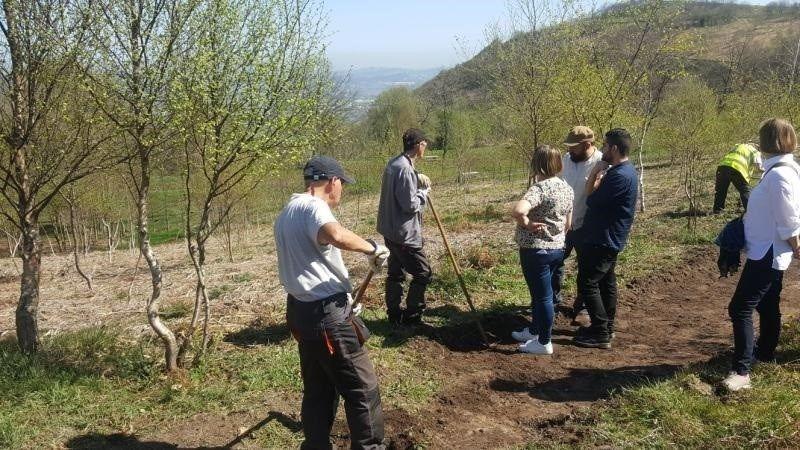 Trabajadores del Plan de Empleo y colaboradores en el Naranco