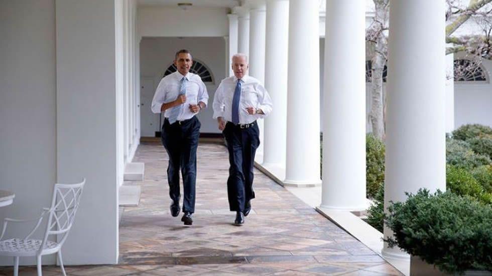 Unas carreritas junto al vicepresidente Biden