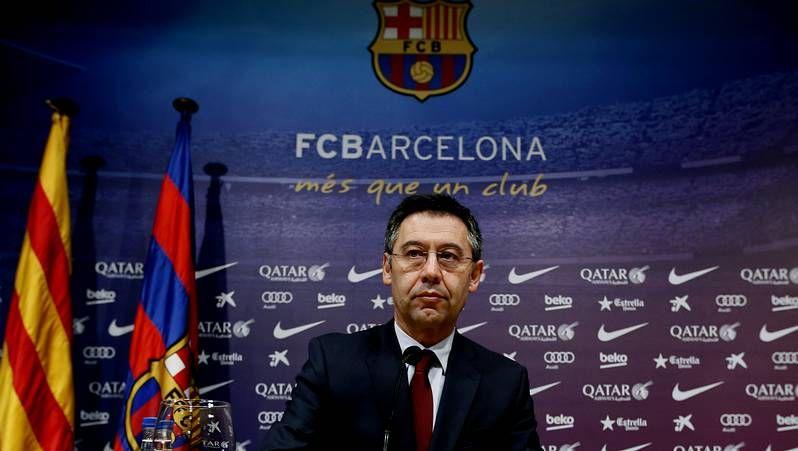 Algunos de los implicados en las tramas de corrupción de la FIFA.El presidente del FC Barcelona, Josep María Bartomeu, tras declarar ante la Audiencia Nacional.