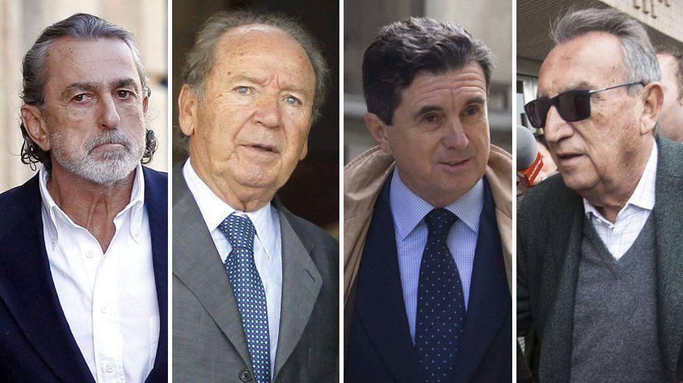 Francisco Correa, Jose Luis Núñez, Jaume Matas y Carlos Fabra