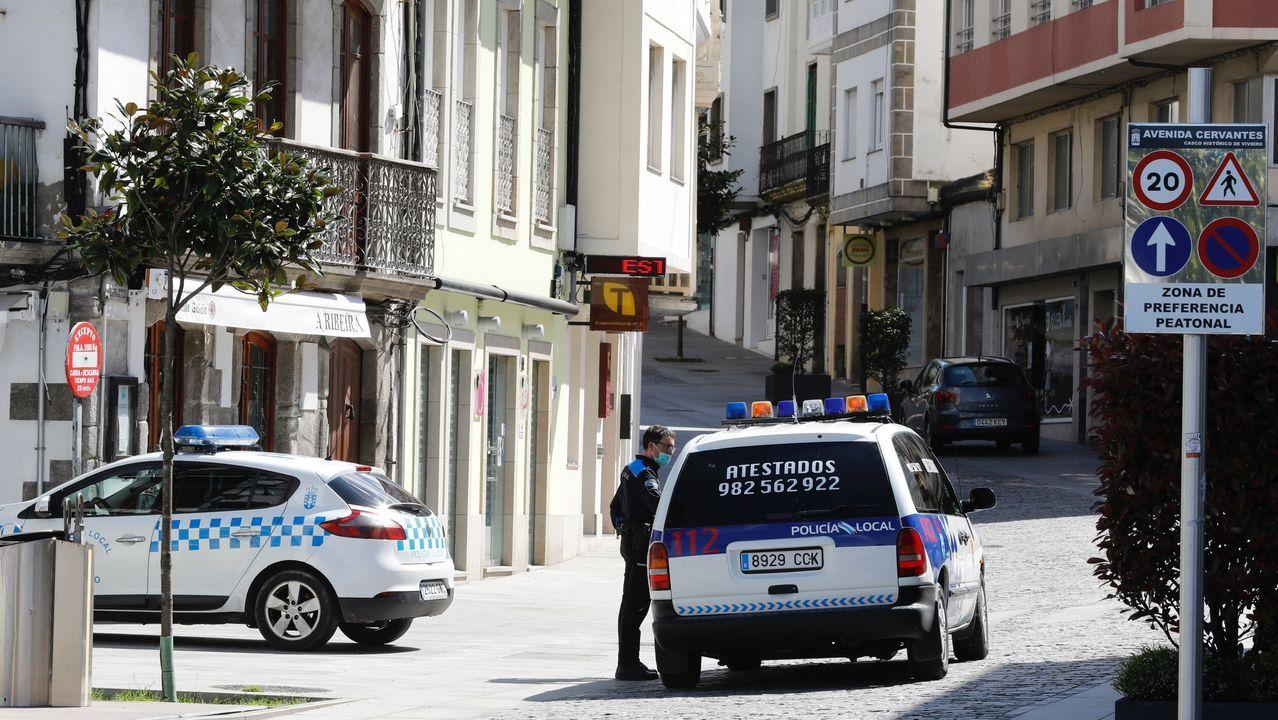 La Policia Local de Viveiro identificó a 1.762 personas, conductores y viandantes, desde que comenzó el confinamiento